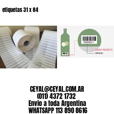etiquetas 31 x 84