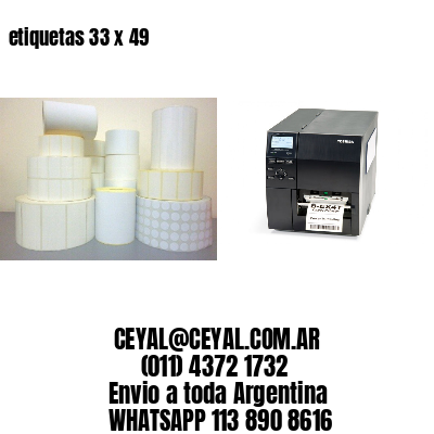 etiquetas 33 x 49