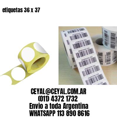 etiquetas 36 x 37