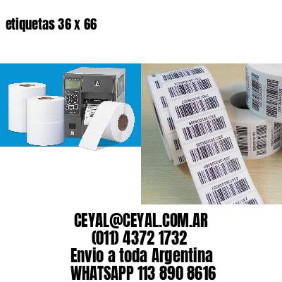 etiquetas 36 x 66