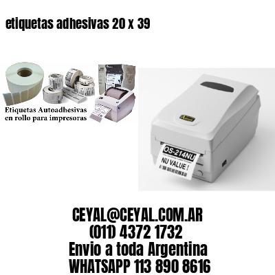etiquetas adhesivas 20 x 39