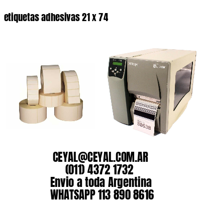 etiquetas adhesivas 21 x 74