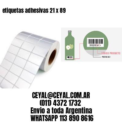 etiquetas adhesivas 21 x 89