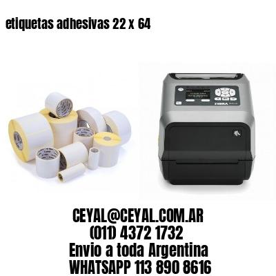 etiquetas adhesivas 22 x 64