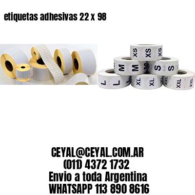 etiquetas adhesivas 22 x 98