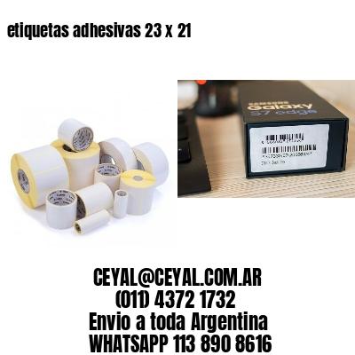 etiquetas adhesivas 23 x 21