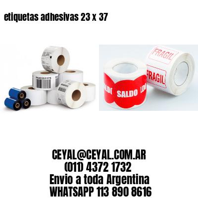 etiquetas adhesivas 23 x 37