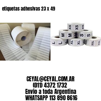 etiquetas adhesivas 23 x 49