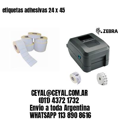 etiquetas adhesivas 24 x 45