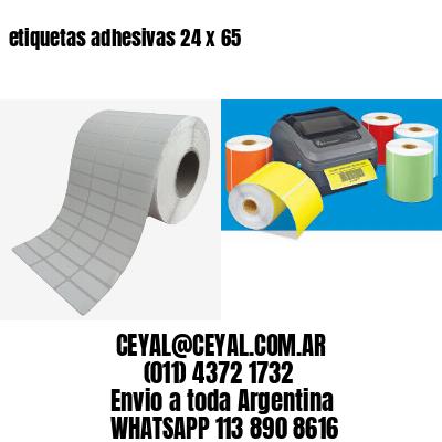 etiquetas adhesivas 24 x 65