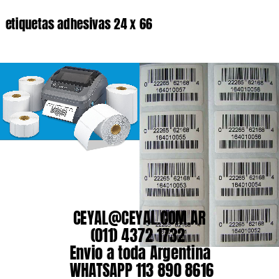 etiquetas adhesivas 24 x 66