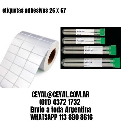 etiquetas adhesivas 26 x 67