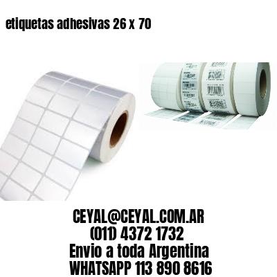 etiquetas adhesivas 26 x 70