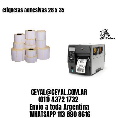 etiquetas adhesivas 28 x 35
