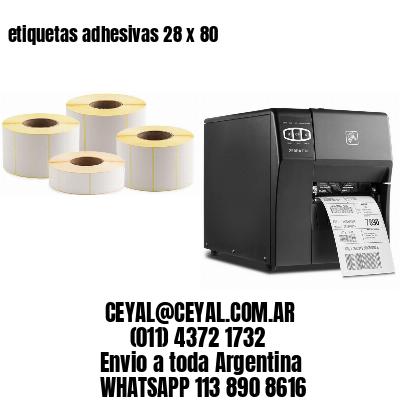 etiquetas adhesivas 28 x 80