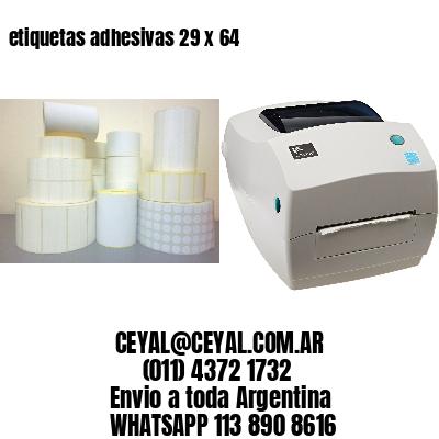 etiquetas adhesivas 29 x 64