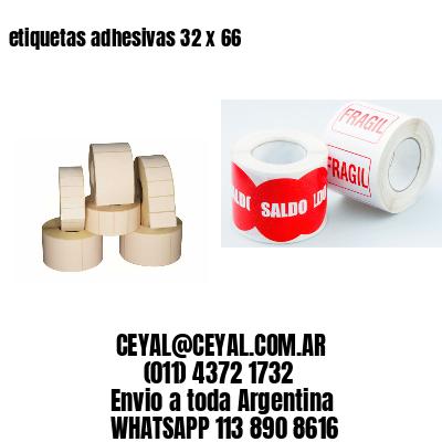 etiquetas adhesivas 32 x 66