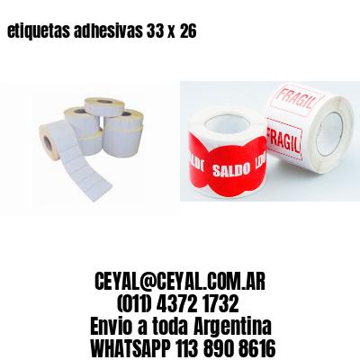 etiquetas adhesivas 33 x 26