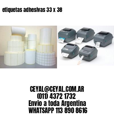 etiquetas adhesivas 33 x 38