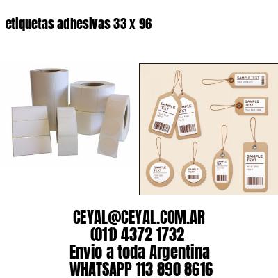 etiquetas adhesivas 33 x 96