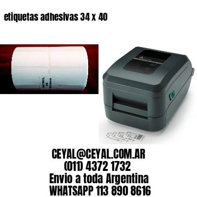 etiquetas adhesivas 34 x 40