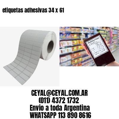 etiquetas adhesivas 34 x 61