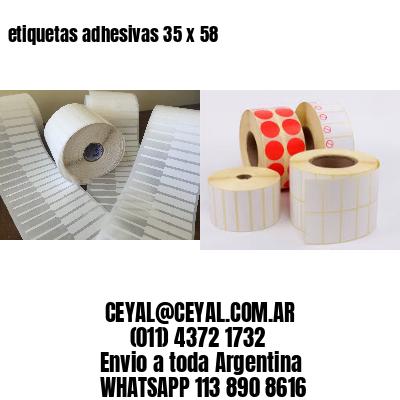 etiquetas adhesivas 35 x 58