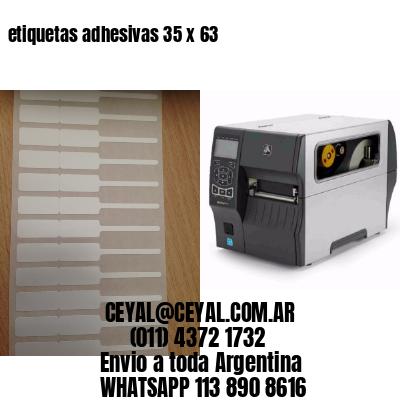 etiquetas adhesivas 35 x 63