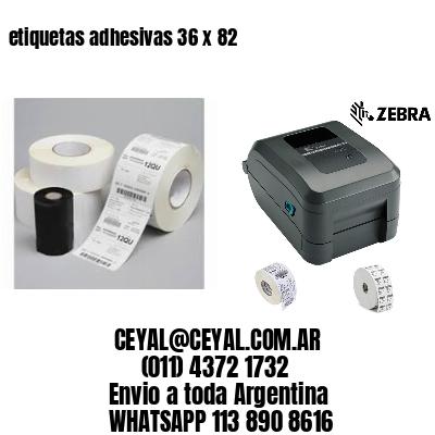 etiquetas adhesivas 36 x 82