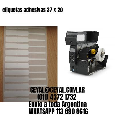 etiquetas adhesivas 37 x 20