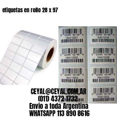 etiquetas en rollo 28 x 97