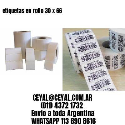 etiquetas en rollo 30 x 66