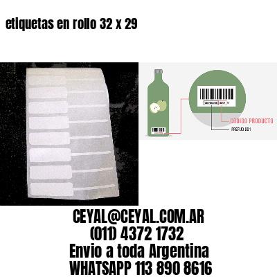 etiquetas en rollo 32 x 29