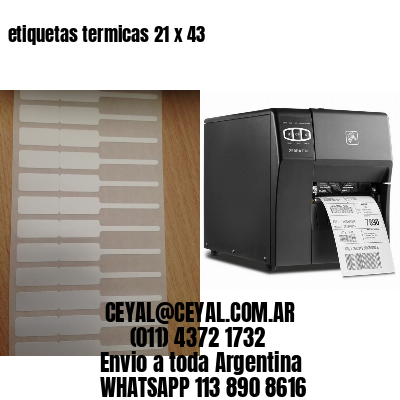 etiquetas termicas 21 x 43