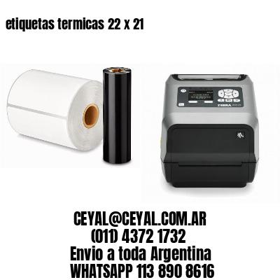 etiquetas termicas 22 x 21