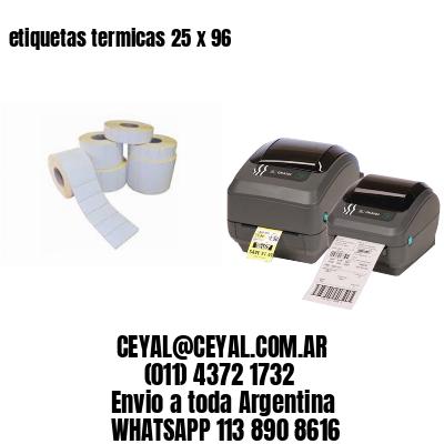 etiquetas termicas 25 x 96