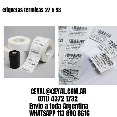 etiquetas termicas 27 x 93