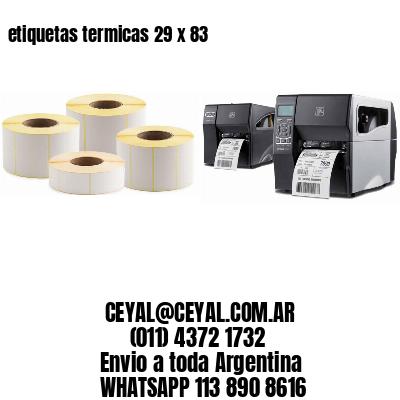 etiquetas termicas 29 x 83