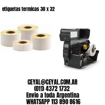 etiquetas termicas 30 x 32