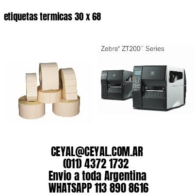 etiquetas termicas 30 x 68