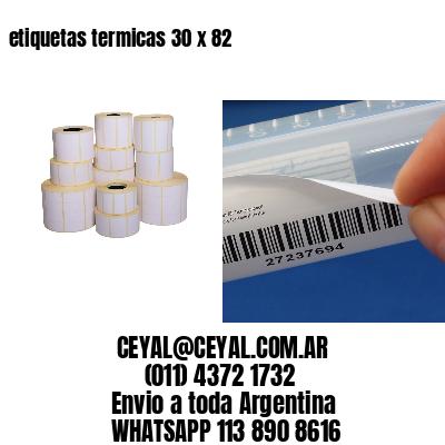 etiquetas termicas 30 x 82