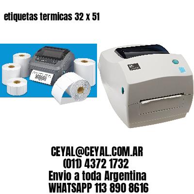 etiquetas termicas 32 x 51