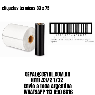 etiquetas termicas 33 x 75