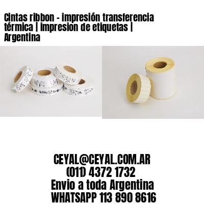 Cintas ribbon - impresión transferencia térmica | impresion de etiquetas | Argentina