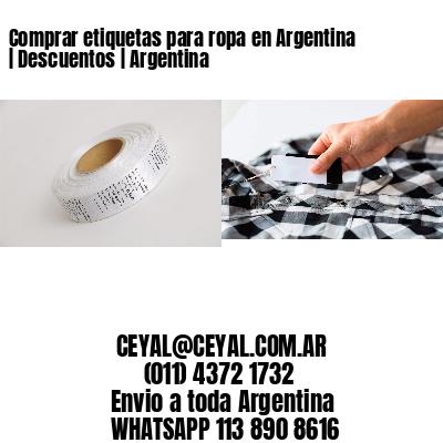 Comprar etiquetas para ropa en Argentina | Descuentos | Argentina