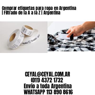 Comprar etiquetas para ropa en Argentina | Filtrado de la A a la Z | Argentina