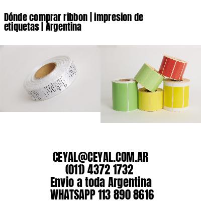 Dónde comprar ribbon | impresion de etiquetas | Argentina