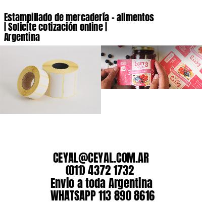 Estampillado de mercadería - alimentos | Solicite cotización online | Argentina