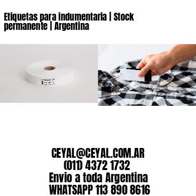 Etiquetas para indumentaria | Stock permanente | Argentina