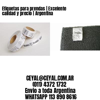 Etiquetas para prendas | Excelente calidad y precio | Argentina